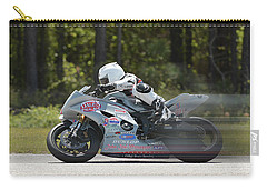 Motorcycle Race Carry-all Pouch by Alan Lenk