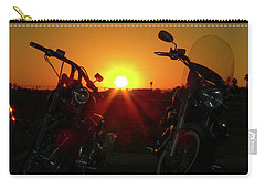 Motorcycle Sunset Carry-all Pouch