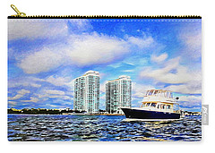 Motoring Past The Marina Grande Carry-all Pouch