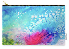 Carry-all Pouch featuring the painting Motu Tehurui by Ed Heaton