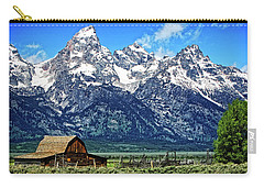 Moulton Barn At Mormon Row Inside Grand Teton National Park Carry-all Pouch