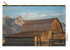 Carry-all Pouch featuring the photograph Moulton Homestead - Barn At Morning Light by Colleen Coccia