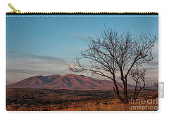 Mount Ara At Sunset With Dead Tree In Front, Armenia Carry-all Pouch