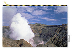 Carry-all Pouch featuring the photograph Mount Aso by Travel Pics