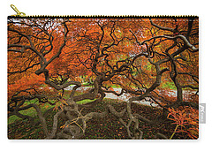Mount Auburn Cemetery Beautiful Japanese Maple Tree Orange Autumn Colors Branches Carry-all Pouch