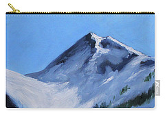 Carry-all Pouch featuring the painting Mount Baker Glacier by Nancy Merkle