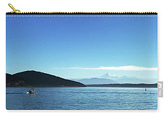 Carry-all Pouch featuring the photograph Mount Baker Looms by Lorraine Devon Wilke