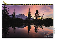 Mount Baker Sunrise Reflection Carry-all Pouch by Mike Reid