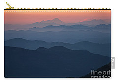 Mount Baker Sunset Landscape Layers Closer Carry-all Pouch by Mike Reid