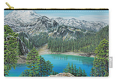 Carry-all Pouch featuring the painting Mount Baker Wilderness by Jane Girardot