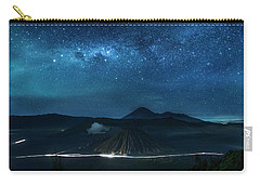 Mount Bromo Resting Under Million Stars Carry-all Pouch