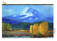 Carry-all Pouch featuring the painting Mount Hood by Nancy Merkle