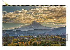 Mount Hood Over Farmland In Hood River In Fall Carry-all Pouch