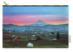 Mount Hood Over Hood River At Sunset Carry-all Pouch