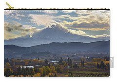Mount Hood Over Hood River Valley In Fall Carry-all Pouch