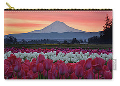 Mount Hood Sunrise With Tulips Carry-all Pouch