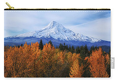 Mount Hood With Fall Colors  Carry-all Pouch by Lynn Hopwood