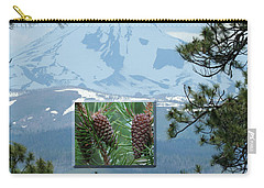 Mount Jefferson With Pines Carry-all Pouch by Laddie Halupa
