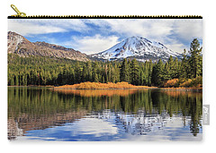 Mount Lassen Reflections Panorama Carry-all Pouch by James Eddy