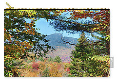 Carry-all Pouch featuring the photograph Mount Mansfield Seen Through Fall Foliage by Jeff Folger