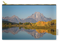Carry-all Pouch featuring the photograph Mount Moran by Steve Stuller