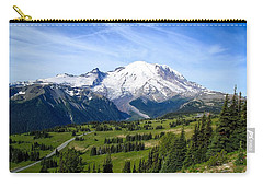 Carry-all Pouch featuring the photograph Mount Rainier At Sunrise by Lynn Hopwood