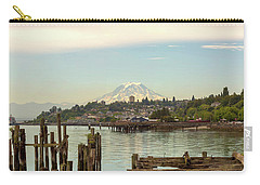 Mount Rainier From City Of Tacoma Washington Waterfront Carry-all Pouch