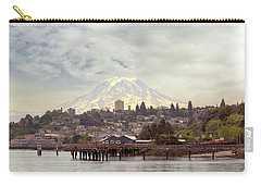 Mount Rainier Over City Of Tacoma Washington Carry-all Pouch