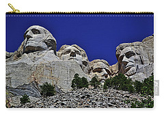 Carry-all Pouch featuring the photograph Mount Rushmore 007 by George Bostian