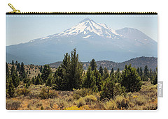 Carry-all Pouch featuring the photograph Mount Shasta And Shastina by Frank Wilson
