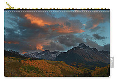 Carry-all Pouch featuring the photograph Mount Sneffels Sunset During Autumn In Colorado by Jetson Nguyen