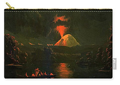 Mount St Helens Erupting At Night Carry-all Pouch