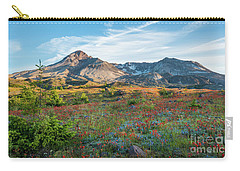 Mount St Helens Fields Of Wildflowers Carry-all Pouch by Mike Reid