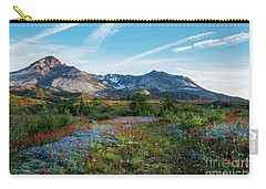 Mount St Helens Glorious Field Of Spring Wildflowers Carry-all Pouch by Mike Reid
