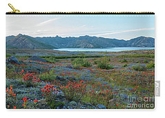 Mount St Helens Spirit Lake Fields Of Spring Wildflowers Carry-all Pouch by Mike Reid