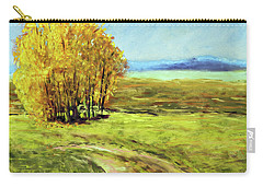 Mountain Autumn - Pastel Landscape Carry-all Pouch by Barry Jones