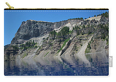 Carry-all Pouch featuring the photograph Mountain Blue by Laddie Halupa