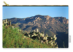 Carry-all Pouch featuring the photograph Mountain Cactus View - Santa Monica Mountains by Matt Harang