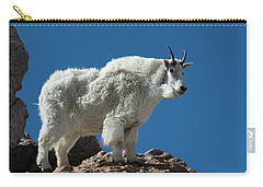 Carry-all Pouch featuring the photograph Mountain Goat 2 by Gary Lengyel