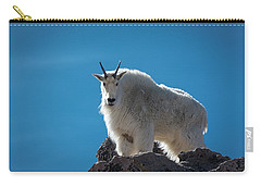 Carry-all Pouch featuring the photograph Mountain Goat 3 by Gary Lengyel