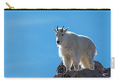 Carry-all Pouch featuring the photograph Mountain Goat 4 by Gary Lengyel