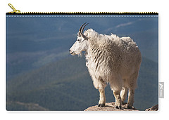 Carry-all Pouch featuring the photograph Mountain Goat by Gary Lengyel