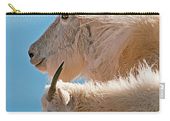 Carry-all Pouch featuring the photograph Mountain Goats by Gary Lengyel