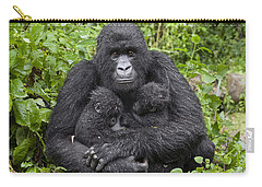 Mountain Gorilla Mother Holding 5 Month Carry-all Pouch by Suzi Eszterhas