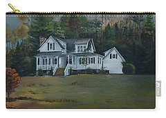 Mountain Home At Dusk Carry-all Pouch by Jan Dappen