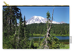 Mountain Lake And Mount Rainier Carry-all Pouch