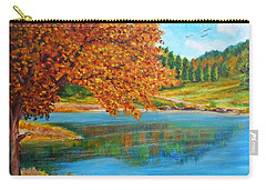 Mountain Lake In Greece Carry-all Pouch