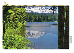 Mountain Lakre Reflection Carry-all Pouch by Ansel Price