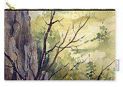 Carry-all Pouch featuring the painting Mountain Landscape by Sam Sidders