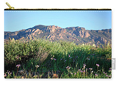 Carry-all Pouch featuring the photograph Mountain Landscape View - Purple Flowers by Matt Harang